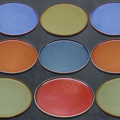 The everything plate. Colors of summer. 8.5 in. Plate. Six colors available at kacstudios.com Eyeshadow, Plates, Colors, Summer, Home Decor, Licence Plates, Eye Shadow, Dishes, Summer Time