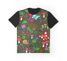 'Cartoon Garden Scene Wildlife Fun' by jaggerstudios Cartoon Garden, Funky Outfits, Cartoon T Shirts, Woodland Creatures, Artwork, Clothes, Accessories, Design, Outfits