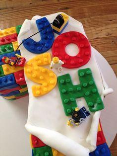 Number 7 Lego birthday cake