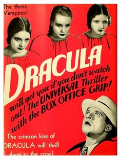 """Ford/'s Theater Dracula Movie Poster 2/"""" X 3/"""" Fridge Magnet Classic Horror!"""