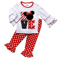 72268d7be2cb So Sydney Toddler Girls Minnie Hoodie Long Sleeve 2 Pc Fall Outfit  Collection (XS Ruffle Sleeve LOVE)  This adorable 2 piece hoodie outfit is  the perfect ...