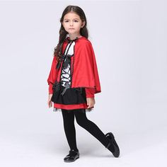 1 Set Performance Outfit Red Little Devil Outfit Costume Dress-up for Party Kids Masquerade Halloween Costumes, Halloween Costume Accessories, Halloween Dress, Halloween Costumes For Kids, Carnival Costumes, Kids Costumes Girls, Girl Costumes, Dresses Kids Girl, Girls Party Dress