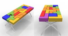 This Tetris table would look awesome in any living room.