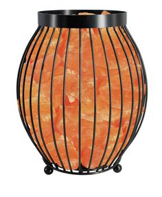 Features:  -Collection: Himalayan Glow.  -Light bulb and dimmer switch included.  -Light bulb nestled in natural Himalayan salt crystals.  -Oval basket shaped lamp.  -Includes power cord, 25W light bu