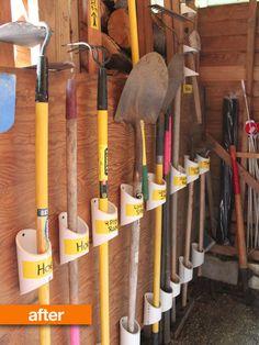 PVC tool organization