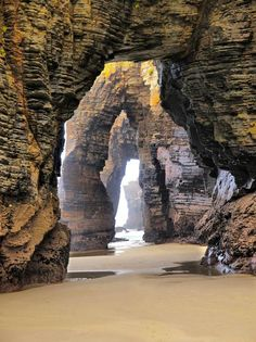 Beach Cathedral, Ribadeo, Lugo, Galicia, Spain: now on my list of places to go. i been to Galicia but next time i'm going here for sure Places Around The World, The Places Youll Go, Places To See, Around The Worlds, Places To Travel, Travel Destinations, Holiday Destinations, Reisen In Europa, Spain Travel