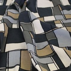 Paging Joan Holloway Cotton - Grays/Taupe - Gorgeous FabricsGorgeous Fabrics