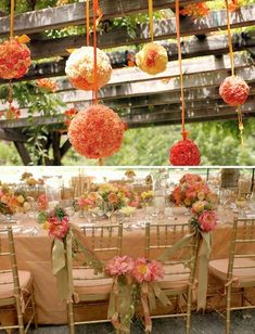Pomander Wedding Ideas  (hang from trees)