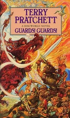 Guards! Guards!, by Terry Pratchett. From Terry Pratchett's Discworld. Click on the cover to read the review by Shauna.