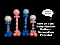 Girl or Boy Baby Shower Balloon Decoration Tutorial - YouTube