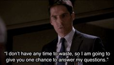 9. When he got straight to the point with a suspect. - Criminal Minds - CBS.com