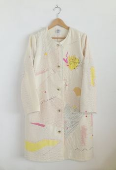 tiny but happy place - zazizazizazi: zazi14aw sashiko wool coat