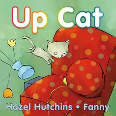 """A cat can get tangled up in all kinds of fun and mischief between wake-up time and nap time. Follow along with the playful text as Cat laps up milk, messes up the house, gets up to no good, stands up to a visiting dog, and finally curls up for a nap in the sun. The expressive, energetic illustrations against simple backgrounds mirror the spare but rhythmic text that teaches about """"up"""" actions while leading the reader through a day in the life of a cat."""