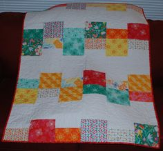 In the Clouds Baby Girl or Toddler Girl Quilt by RedTailRoadQuilts