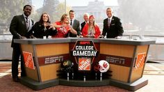 "Throwing what you know with the ESPN ""College Gameday"" correspondents. TSM."