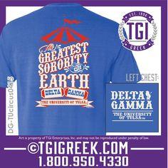 TGI Greek - Delta Gamma - Greek T-shirts - Comfort Colors - Formal Shirts #tgigreek #deltagamma