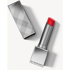 Burberry Kisses Sheer Military Red No.305 ($37) ❤ liked on Polyvore featuring beauty products, makeup, lip makeup, gloss makeup, burberry cosmetics, lip gloss makeup, polish makeup and burberry makeup