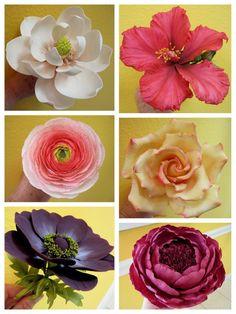 Fondant sugar flowers