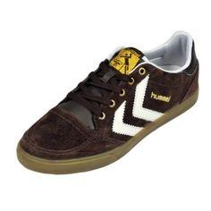 Hummel Stadil Low Sneaker Shoe In Brown Suede
