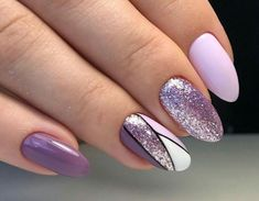 Most up-to-date Cost-Free Nail Art Glitter line Ideas Then clothes, tresses as well as shoes and boots, the subsequent stylish merchandise is actually nai Purple Glitter Nails, Purple Nail Art, Purple Nail Designs, Pretty Nail Art, Glitter Nail Art, Cute Acrylic Nails, Acrylic Nail Designs, Cute Nails, Nail Art Designs