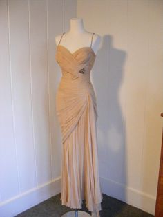 1950 DESIGNER COUTURE MADE IN ITALY EVENING by vintagebluemoon