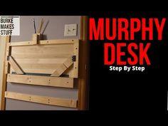 Murphy Desk DIY – complete tutorial 2020 – a super cheap, easy, space saving desk - Dinnerrecipeshealthy sites Kids Folding Table, Folding Desk, Murphy Desk, Space Saving Table, Cheap Desk, Desks For Small Spaces, Dream Furniture, Desk Space, Diy Desk