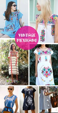 vestido mexicano                                                                                                                                                                                 Más Folk Fashion, Native American Fashion, Ethnic Fashion, Girl Fashion, Fashion Outfits, Fashion Design, Fiesta Outfit, Mexican Outfit, Mexican Dresses