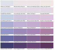 Purple Paint Colors Wall Color Chart