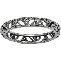 Shop for Sterling Silver Stackable Expressions Black-plated Celtic Knot Ring. See our entire collection of Stackable Expressions Rings. Celtic Knot Ring, Celtic Wedding Rings, Celtic Spiral, Celtic Art, Irish Rings, Celtic Designs, Ring Designs, Silver Rings, Silver Jewelry
