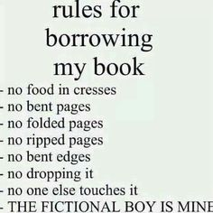Book borrowing rules.