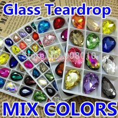 Colores de la mezcla de la lágrima de cristal cristalinos Fancy Stones Mezclado 10x14mm , 13x18mm , 18x25m m , 20x30m m para la joyería , decoración de DIY , en Cuentas de Joyería en AliExpress.com | Alibaba Group