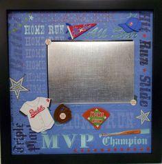 Hit Run Slide Baseball Shadow Box by theshadowbox on Etsy, $40.00
