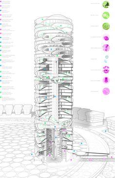 David Tajchman Envisions Cylindrical Skyscraper for Tel Aviv,© David Tajchman 2016