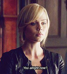 """You alright now?"" Elena ~ Bitten"
