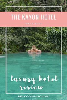 LUXURY HOTEL REVIEW: THE KAYON, UBUD, BALI. When you think of Ubud in Bali, you probably imagine relaxing by a lush green forest with an infinity pool stretching off into the distance. I knew that I wanted such an iconic experience when I first started planning my trip, and luckily I was able to find the ideal spot by staying at The Kayon Resort by Pramana Experience!