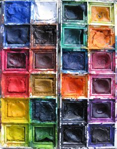 """this reminds me of Joni Mitchell """"I am a lonely painter/I live in a box of paints"""""""
