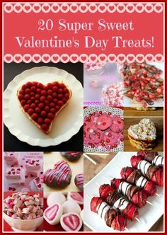 20 Super Sweet Valentine's Day Treats - Sunshine Whispers http://www.sunshinewhispers.com/2015/01/20-super-sweet-valentines-day-treats/