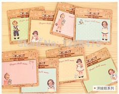 NEW paper doll girl Notepad / sticky note Memo / message post / Notepad School Office Supply Escolar Papelaria Gift Stationery
