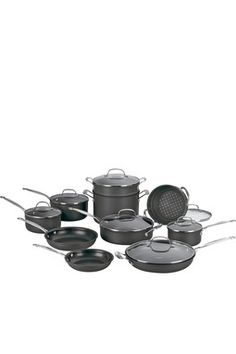 Cuisinart Non-Stick Hard Anodized 17-Piece Cookware Set
