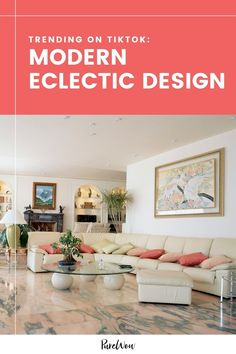 Does your dream home's interior fall somewhere between shabby chic and contemporary glam? TikTok's trending design style is called 'Modern Eclectic,' and it's the old-meets-new aesthetic that you've been waiting for. #modern #eclectic #design Funky Design, Eclectic Design, Eclectic Style, Eclectic Decor, Modern Decor, Amazon Home Decor, Live Edge Table, Furniture Sale, Home Decor Trends