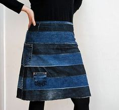 Kutimessa: Kahdet farkut = yksi hame Sewing Clothes, Diy Clothes, Denim Ideas, Bubble Skirt, Patchwork Jeans, Recycle Jeans, Old Jeans, Recycled Denim, Textiles