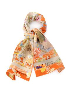 gucci Printed Silk Scarf Orange #alducadaosta #newarrivals #spring #summer #women #fashion #style #accessories #apparel #mothersday #love #gift #ideas #giftidea #gucci