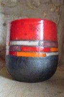 mug motif rouge horizontal
