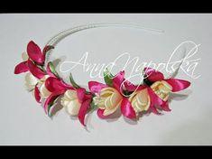 Обруч з фуксіями канзаши. Ободок с фуксиями своими руками. Fuchsia flowers headband - YouTube