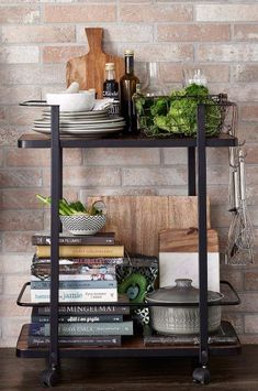 Update your kitchen for autumn! Mezzanine Bedroom, Bistro Kitchen, Drinks Cabinet, Compact Living, Love Home, Ladder Bookcase, Cozy House, Kitchen Storage, Industrial Style