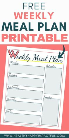 Free meal planner with tons of meal planning ideas! Try this meal planning printable to save time, money, and eat healthier! Time to start a truly effective weekly meal plan! Print it now! #mealplanningprintable #mealplantemplate Free Meal Planner, Meal Planner Printable, Healthy Deserts, Kid Friendly Dinner, Make Ahead Freezer Meals, Mom Schedule, Meal Planning, Free Printables, Money