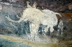 rock art/ethnography | We leave this part of the Bhimbetka caves with this charming elephant.
