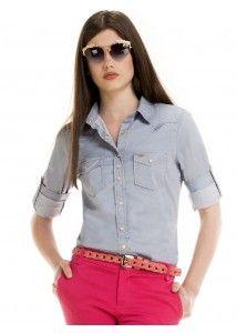 camisa jeans azul principessa liane