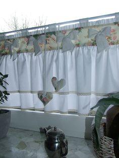 Glorious Make Rod Pocket Curtains Ideas. Enchanting Make Rod Pocket Curtains Ideas. Cortinas Country, Cortinas Shabby Chic, Rideaux Shabby Chic, Rustikalen Shabby Chic, Shabby Chic Furniture, Rose Curtains, Cottage Curtains, Shabby Chic Curtains, Burlap Curtains