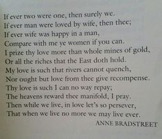 To My Dear and Loving Husband by Anne Bradstreet